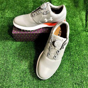 UA Performance Spikeless Grey Golf Shoes 7 NEW